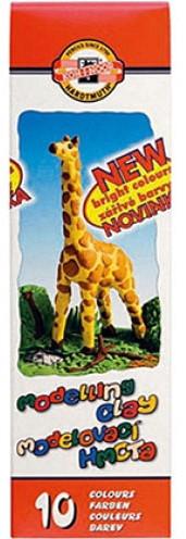 """Пластилин Koh-I-Noor """"Жираф"""", 10цв., 200г, картонная упаковка"""