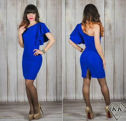 Платье 15538, цвет электрик, фото 2