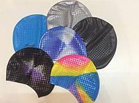 Шапочка для плавания объемная силиконовая для длинных волос