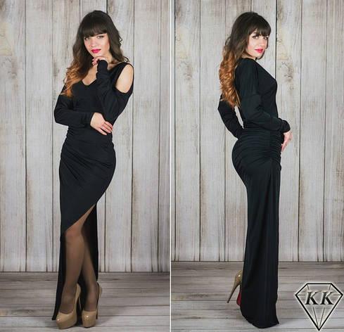 Черное платье 15537, фото 2