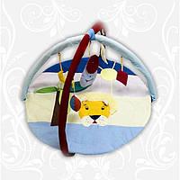 Коврик детский игровой Лев с дугами и подвесными игрушками