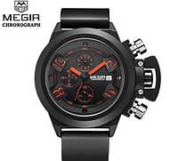 Мужские наручные матовые часы хронограф Megir Power