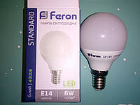 Светодиодная лампа Feron LB-745 E14 6W 4000K  для общего и декоративного освещения