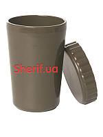 Чашка армейская из прочного пищевого пластика и крышкой US CAMP MIL-TEC .