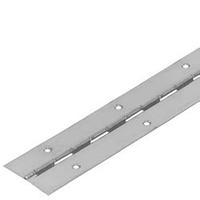 Петля Н14001 рояльная 20х20мм длина 3,5м. Сталь 1,0мм никилированная.