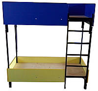 Кровать детская двухъярусная 1400*600мм, фото 1