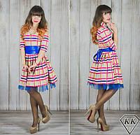 Бежевое платье 15540