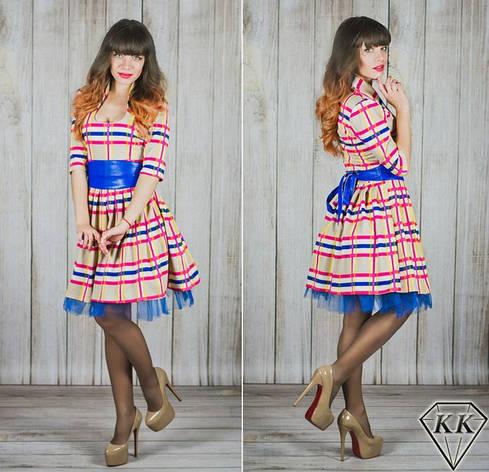 Бежевое платье 15540, фото 2