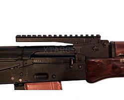 Планка-целик АК 2000 для АК; РПК; Сайга; Вепрь. Weaver/Picatinny 16 см