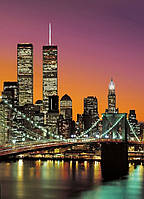 Фотообои город 183х254 см Wizard+Genius 331 Манхэттен 4 сегмента (7611487003311)