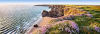 Фотообои бумажные на стену 366х127 см 4 листа: море, Северный берег