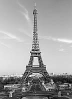 Фотообои бумажные на стену 183х254 см 4 листа:город Париж Эйфелева башня
