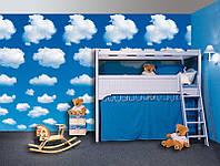 Фотообои бумажные на стену 183х254 см 4 листа: Белые облака