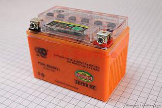 Акумулятор 4Аһ YTX4L-BS (гелевий, оранж) 113/70/85мм з ІНДИКАТОРОМ 2015, від 10шт -3%