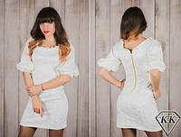 Молочное платье 15535