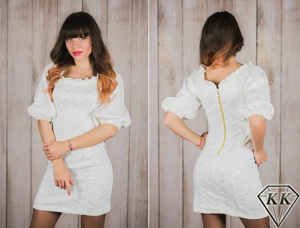 Молочное платье 15535, фото 2