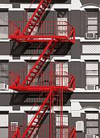 Фотообои бумажные на стену 183х254 см 4 листа: Пожарная лестница