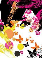 Фотообои бумажные на стену 183х254 см 4 листа: Цветочная девушка