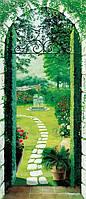 Фотообои бумажные на дверь 86х200 см 1 лист: Вид из окна Porticato