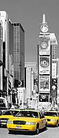 Фотообои бумажные на дверь 86х200 см 1 лист: город Нью-Йорк Таймс-сквер