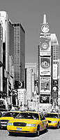 Фотообои бумажные на дверь 86х200 см 1 лист: город Нью-Йорк Таймс-сквер  №525