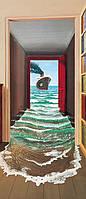 Фотообои бумажные на дверь 86х200 см 1 лист: Корабль