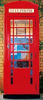 Фотообои бумажные на дверь 86х200 см 1 лист: Телефонная будка  №549