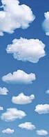 Фотообои бумажные на дверь 91х254 см 1 лист: Белые облака