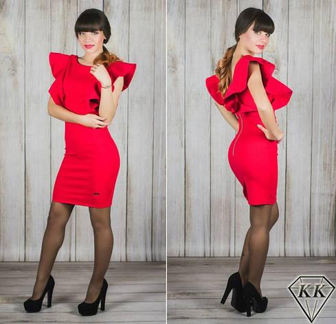 Красное платье 15541, фото 2