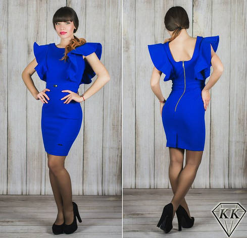 Платье 15541, цвет электрик, фото 2