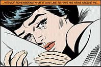 Фотообои бумажные на стену 115х175 см 1 лист: Женщина плачет