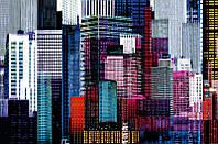 Фотообои бумажные на стену 115х175 см 1 лист: Яркие Небоскребы