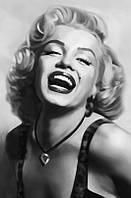 Фотообои бумажные на стену 115х175 см 1 лист: Смеющаяся Мэрилин Монро