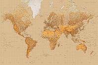 Фотообои 175х115 см Wizard+Genius 623 Карта мира стилизованная 1 сегмент (7611487064770)
