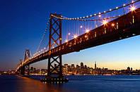 Фотообои бумажные на стену 115х175 см 1 лист: мост Сан-Франциско