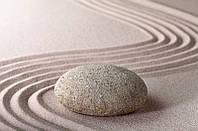 Фотообои бумажные на стену 115х175 см 1 лист: Камень Дзэн