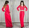 Красное платье 15534 в пол