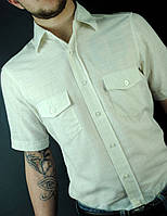 Белая стильная рубашка