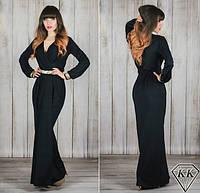 Черное платье 15534 в пол