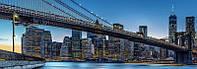 Фотообои флизелиновые на стену 366х127 см 4 листа: Сумерки в Нью Йорке  №863