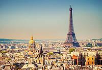 Фотообои флизелиновые на стену 366х254 см 8 листов: город Париж