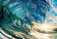 Фотообои флизелиновые на стену 366х254 см 8 листов: Идеальная волна  №962