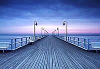 Фотообои флизелиновые на стену 366х254 см 8 листов: Пирс на берегу моря
