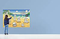Фотообои-раскраска бумажные на стену 115х175 см 1 лист: Пиратская бухта