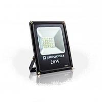 Светодиодный прожектор EVRO LIGHT EV-20-01, 20W, 220V, IP65, Standart, 1400Lm, 6400K белый холодный, фото 1