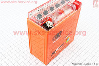 Акумулятор 5Аһ 12N5L-BS (гелевий, оранж) Active 120/60/130мм, 2016