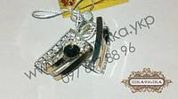 Серебряные серьги с золотом и фианитом №33з