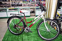 """Женский велосипед Avanti Omega 27,5"""" бело-красный"""