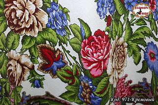 Павлопосадский кремовый платок Алёна, фото 2