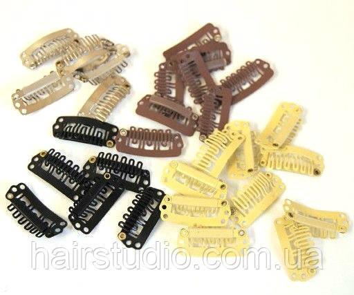 Профессиональные заколки (клипсы) для накладных волос 2,8 mm